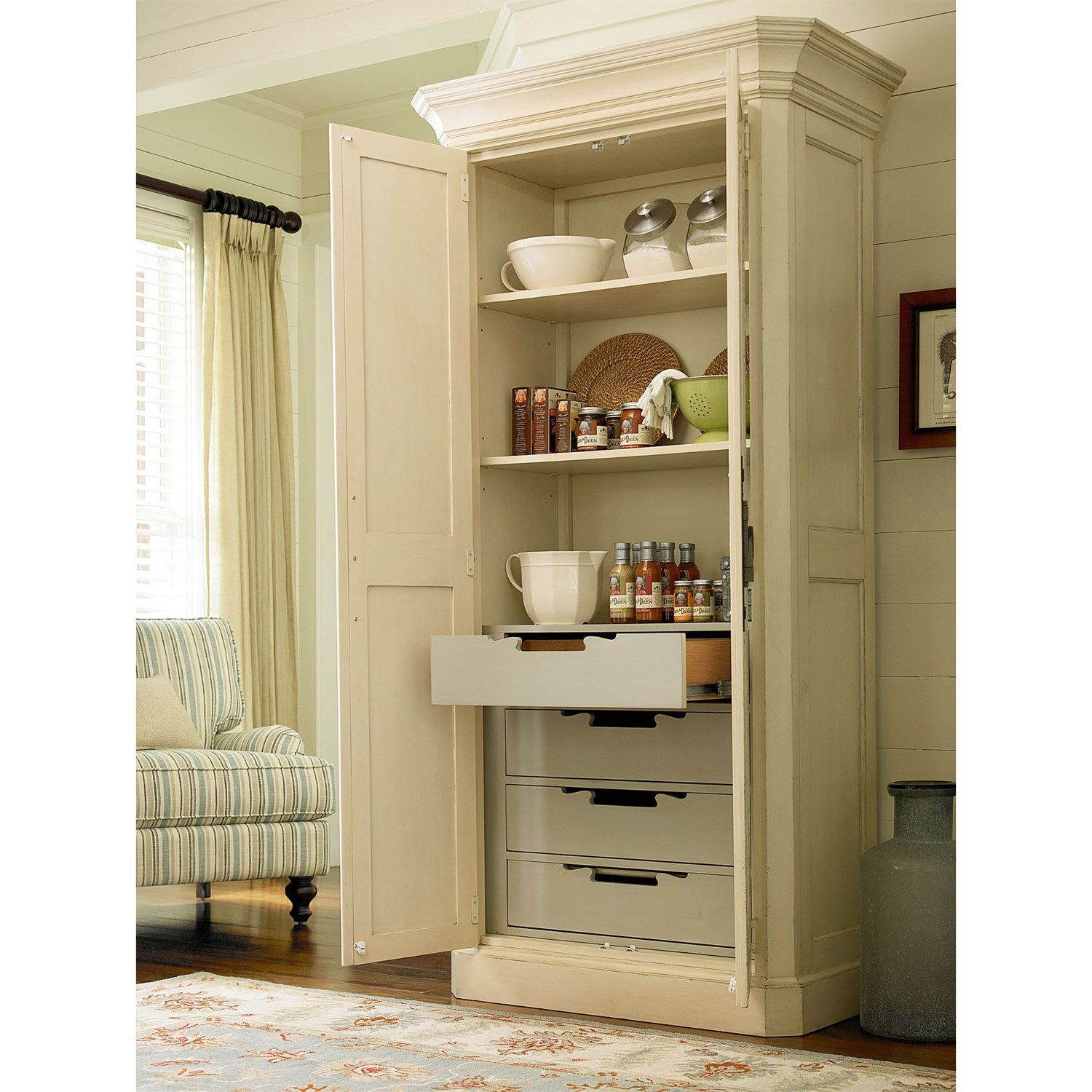 River House Kitchen Island By Paula Deen By Universal: Paula Deen Furniture 393674 River House Utility Cabinet