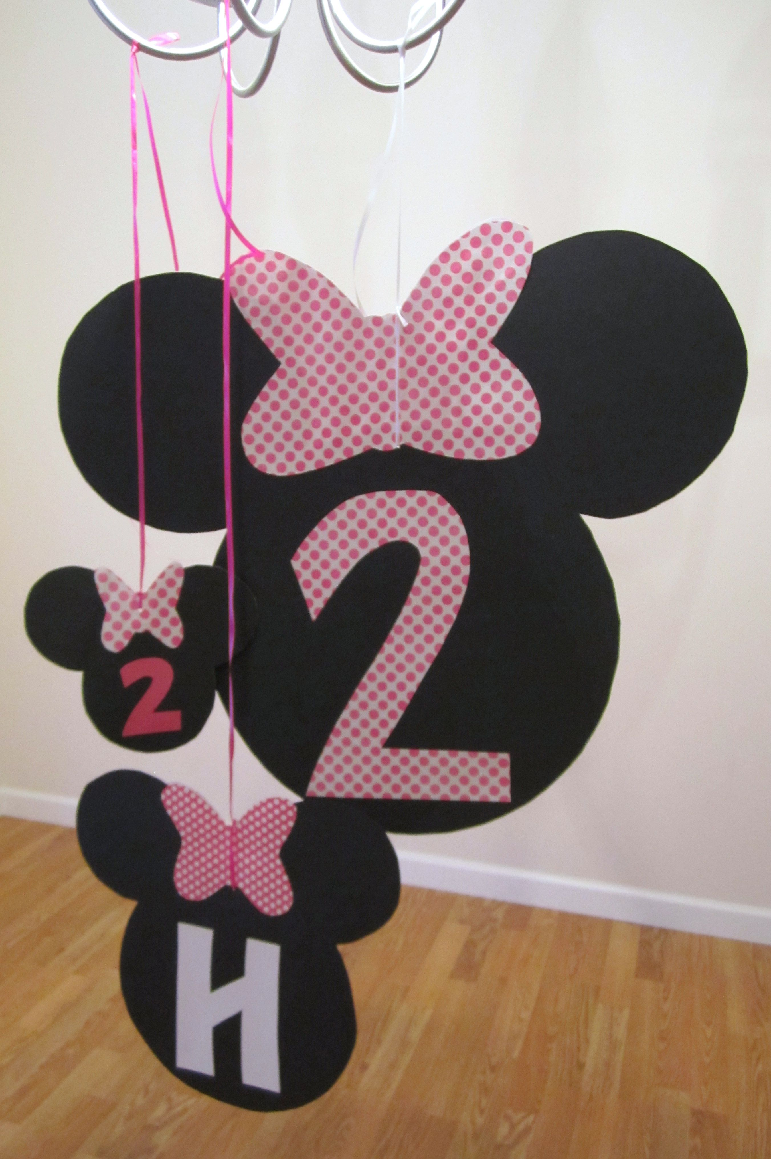 How to make scrapbook decorations - Minnie Mouse Hanging Decorations Under 1 Each To Make Scrapbook Paper