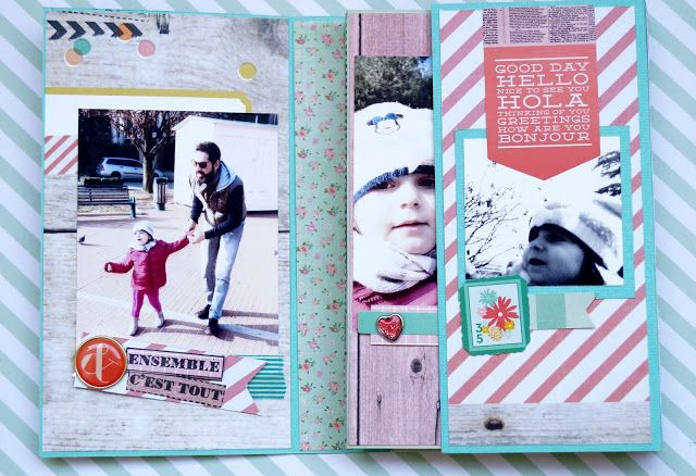 MY 12 MONTHS OF CARDS: Mini album LIVE SIMPLY