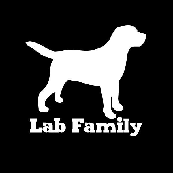 Labrador retriever family vinyl car window decal