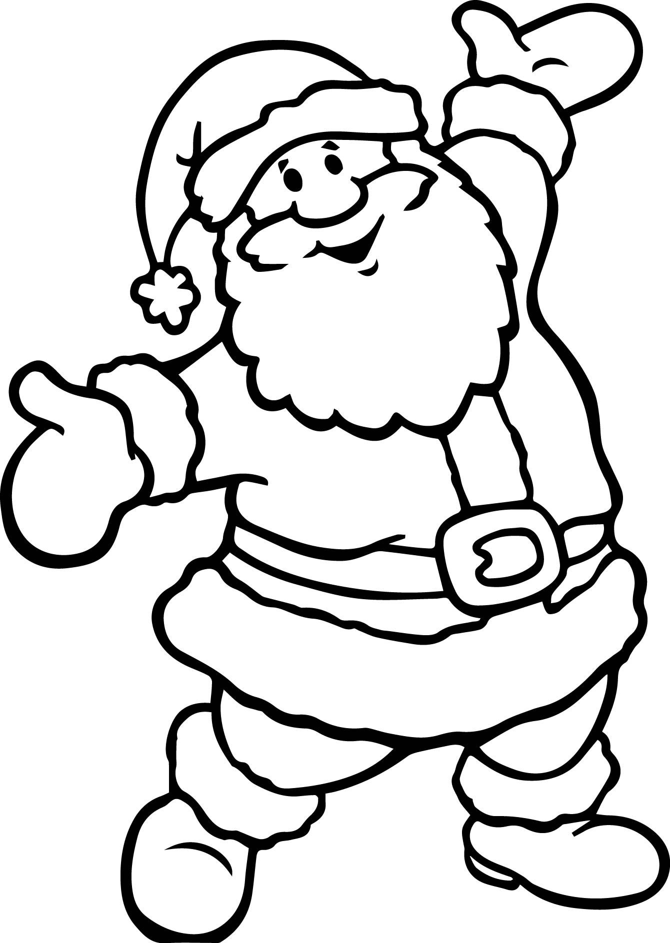 Cool Santa Claus Printable Coloring Pages Santa Coloring Pages