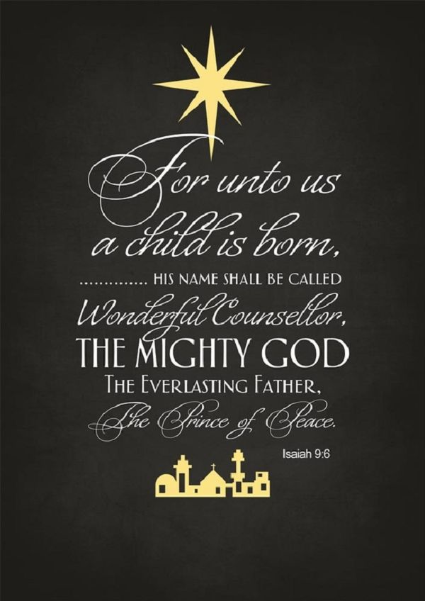 Isaiah 96 Merry christmas quotes, Religious quotes and