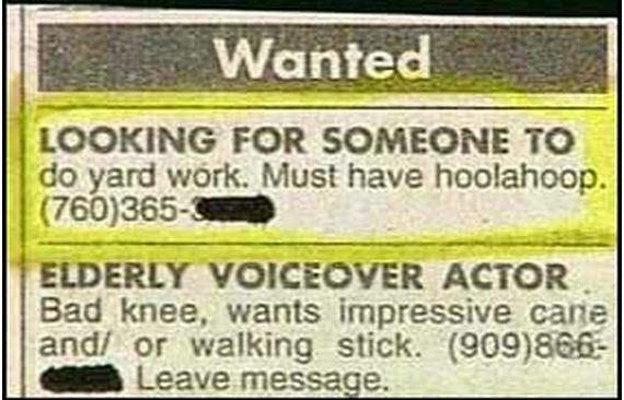 Funny Classified Newspaper Ads Giggles Pinterest Funny