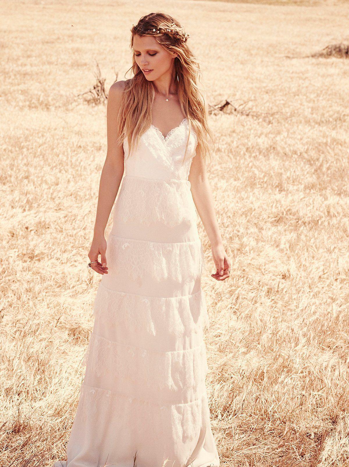 Modelo tiered free people novia simple wedding in pinterest