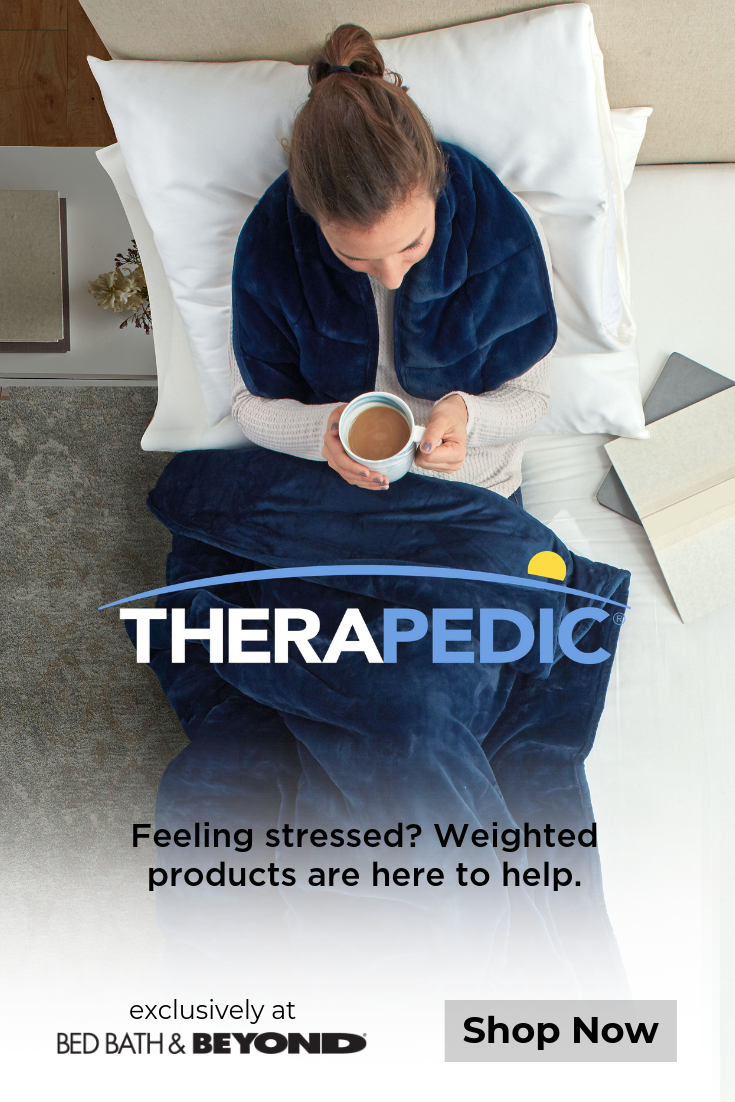 Keeping Calm Has Never Been More Comfortable Therapedic Weighted Blankets Eye Masks Neck P With Images Heated Mattress Pad Stomach Sleeper Pillow Memory Foam Bed Topper