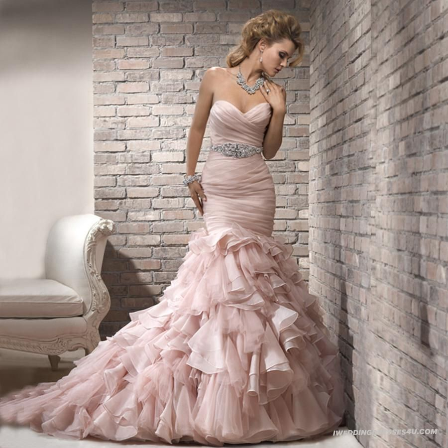 Different color wedding dresses  Welcome To Bridal Collection Of Bride MermaidTrumpet Wedding Dress
