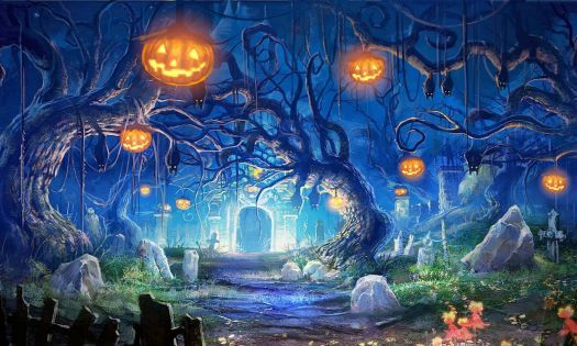 Halloween Haunted Forest Pumpkin Head Graveyard (198 pieces - haunted forest ideas for halloween
