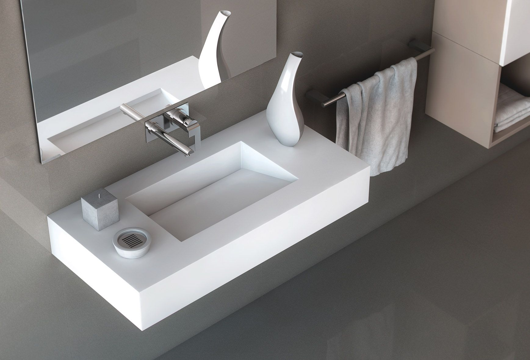 Silestone sink from the bath collection of cosentino for Silestone sink