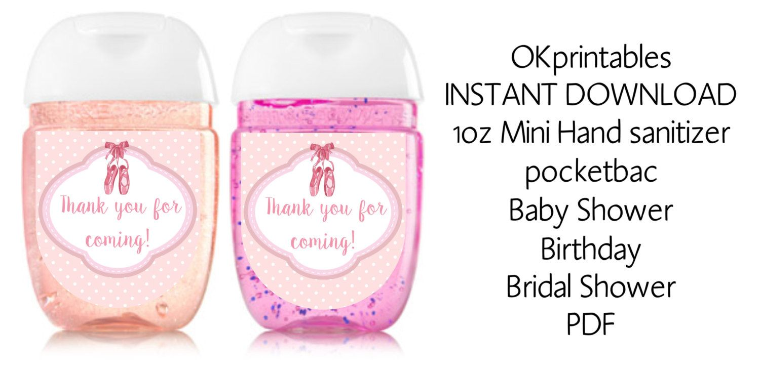 Ballet Slippers Mini Hand Sanitizer Label Ballet Hand Hand