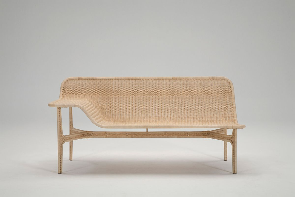 Yamakawa Rattan Hiroomi Tahara Relation Rattan Sofa Indoor  # Muebles De Bejuco