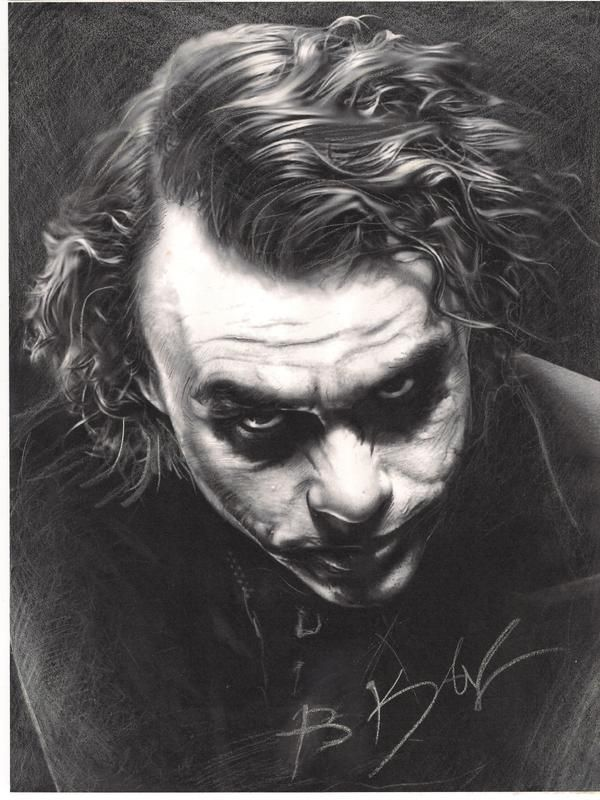 Airbrush Joker Wallpaper: Joker ''Heath Ledger'' By Whitekhan25.deviantart.com