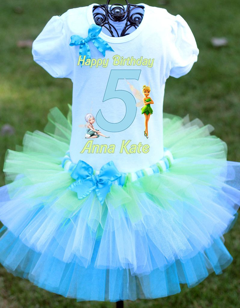 Tinkerbell Birthday Outfit Tiered Tutu Secret of the Wings | My two ...