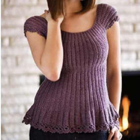This Very Feminine And Very Bust Enhancing Crochet Top Looks