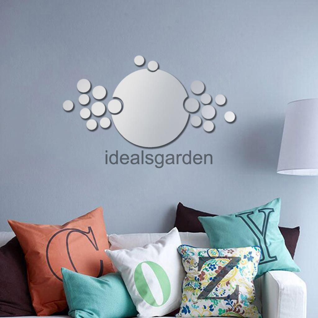 Pcs round circle tile wall stickers vinyl art decals room decor