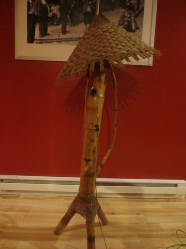 Vintage Unique Hand Made Bamboo Tiki Bar Floor Lamp Woven Shade 65 ...