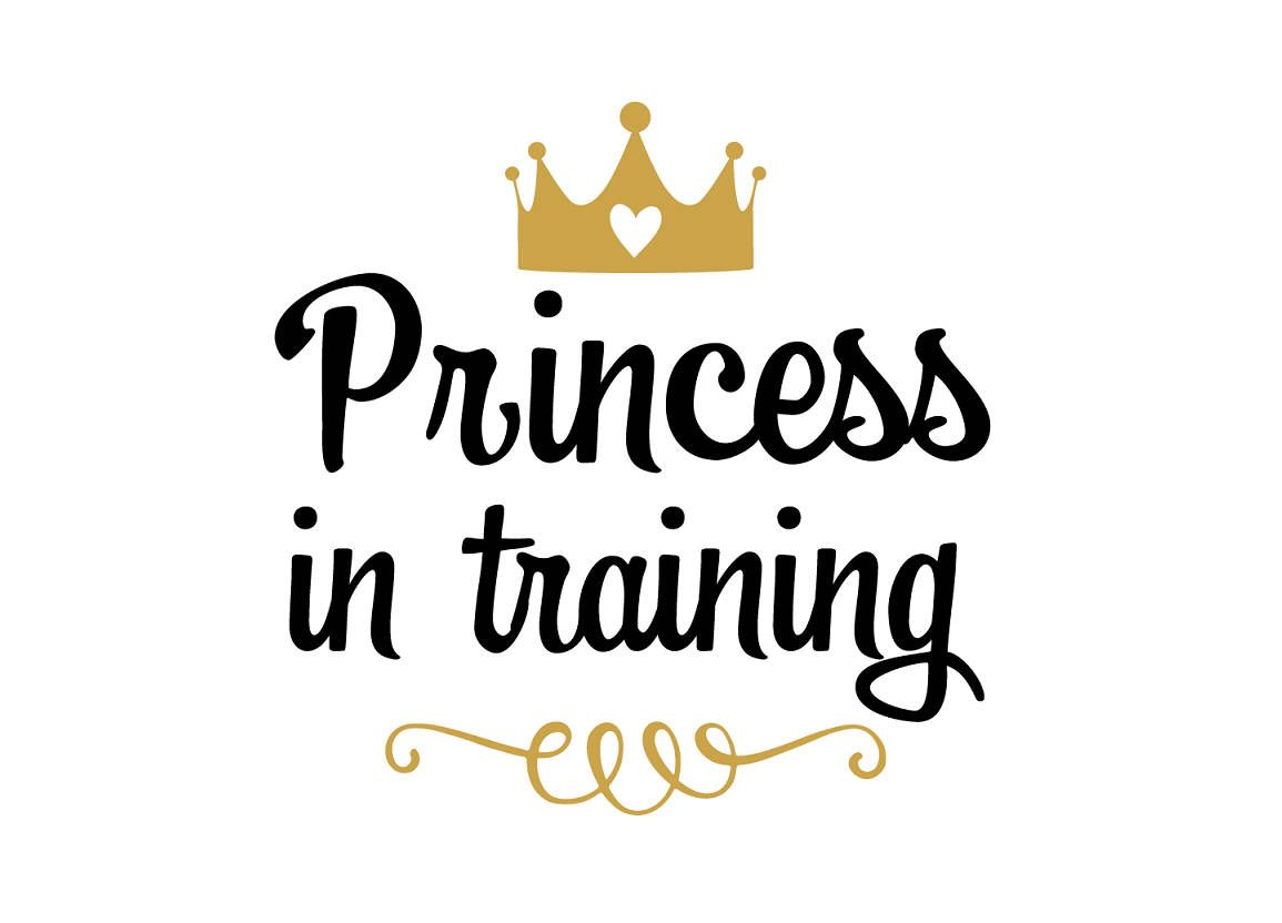 Princess In Training SVG File Svg Saying Baby Sparkle Girl