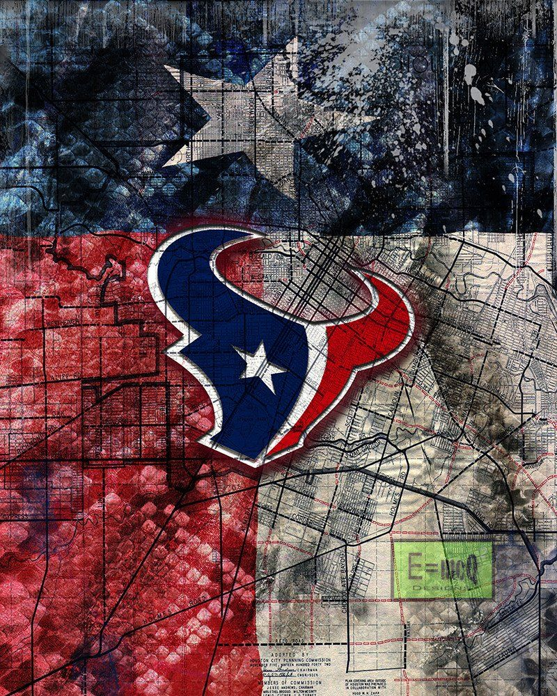 Houston texans sports poster houston texans artwork texans in front of houston map and texas flag texans nfl