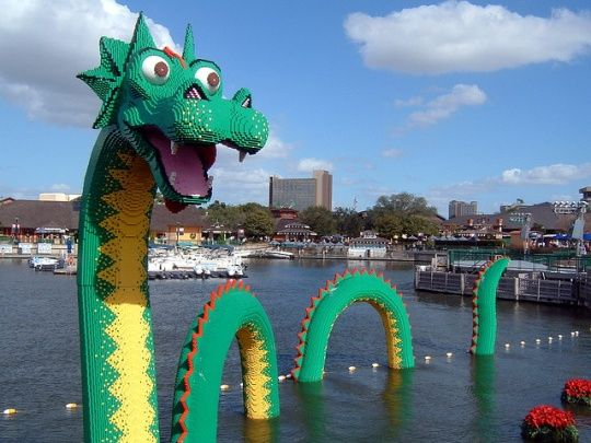 Lego Sea Serpent - James Burke - Outside the LEGO Store at Downtown ...