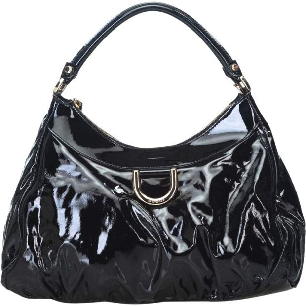 Gucci Hobo Black Patent leather Handbag