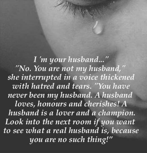 That he was....no husband
