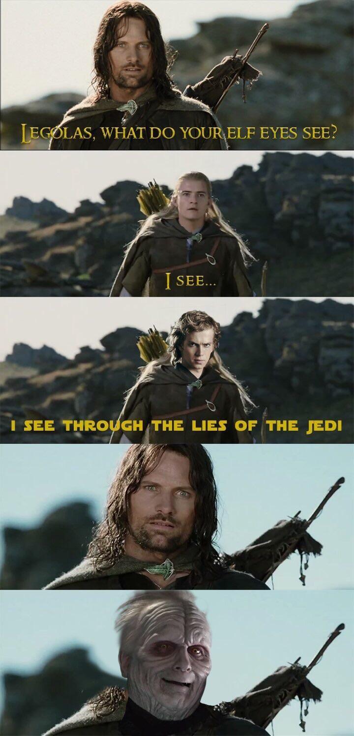 Legolas Star Wars Memes Star Wars Fandom Legolas