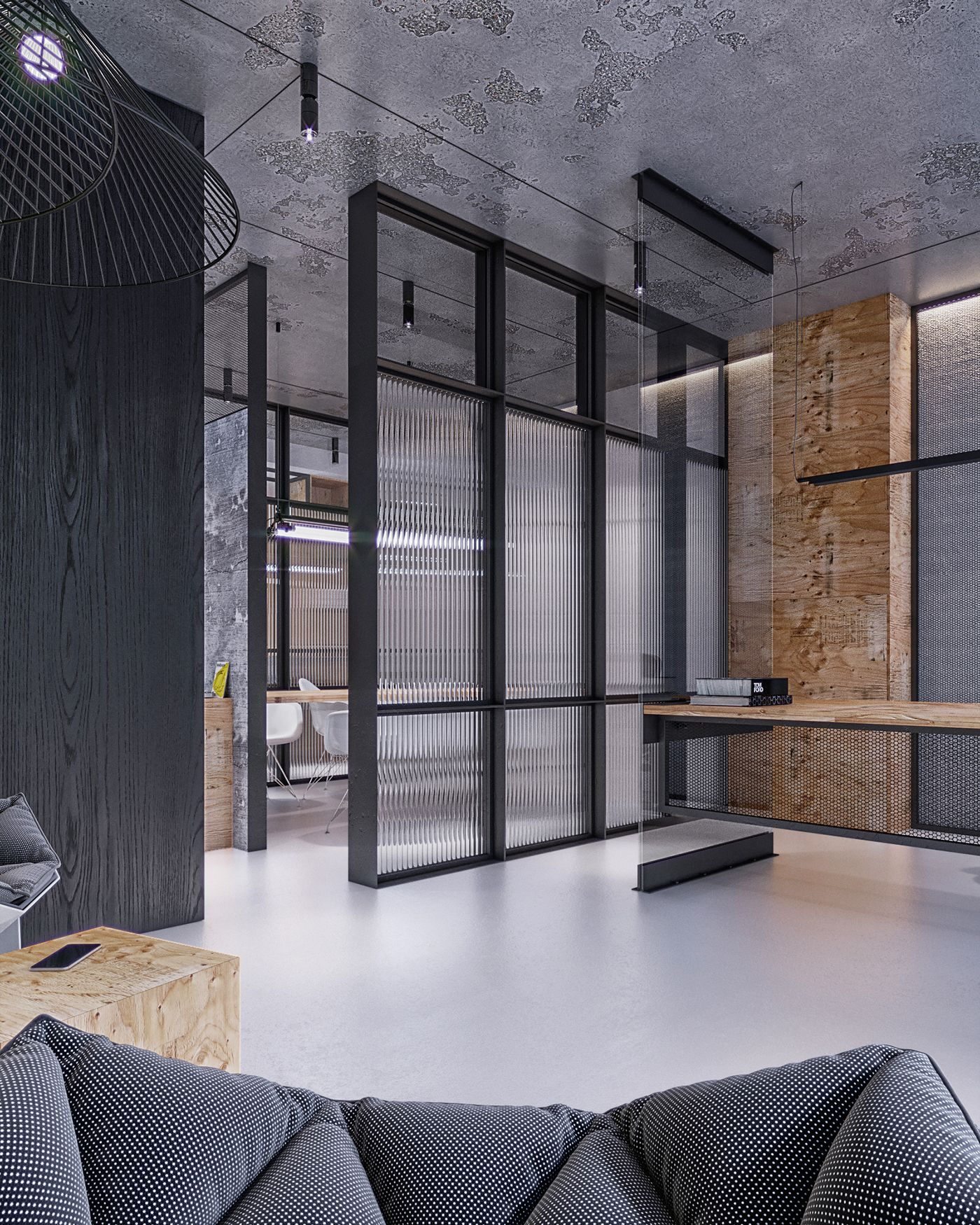 Small Office Interior Design: Industrial Office Studio On Behance