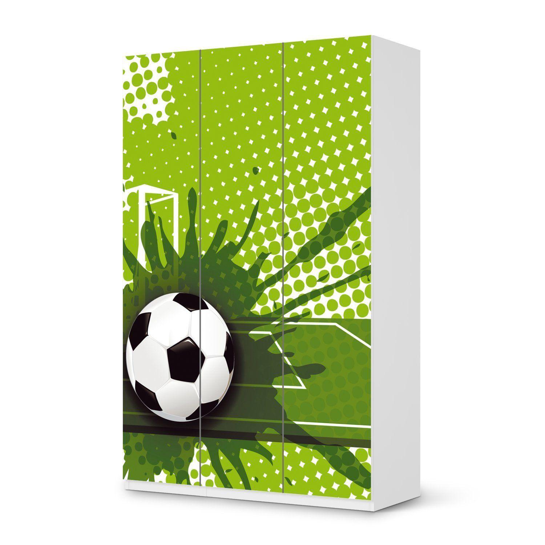 Fussballzimmer Soccer Room Mobel Aufkleber Folie Fur Ikea Paxschrank 236 Cm Hohe 3 Turen Sticker Kinder Zimmer Dekorier Kinder Mobel Pax Schrank Kinder