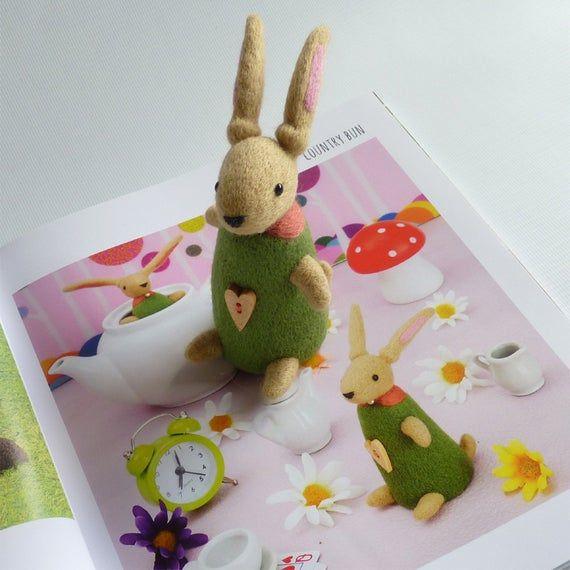 Needle felted bunny, needle felt rabbit, felted rabbit, felt bunny, bunny gift, needle felt animal, #needlefeltedbunny