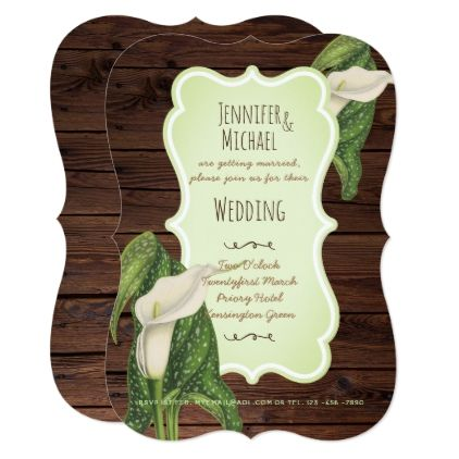 Rustic Calla Lily Wedding Invitations Elegant Engagement Gifts Ideas Diy Special Unique Personalize