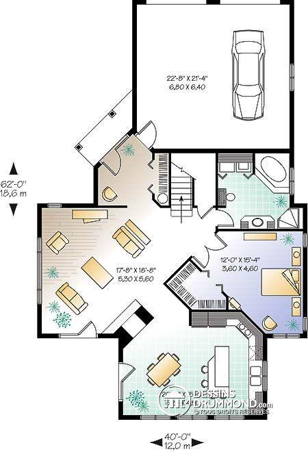 Détail du plan de Maison unifamiliale W2603 Идеи для моего дома