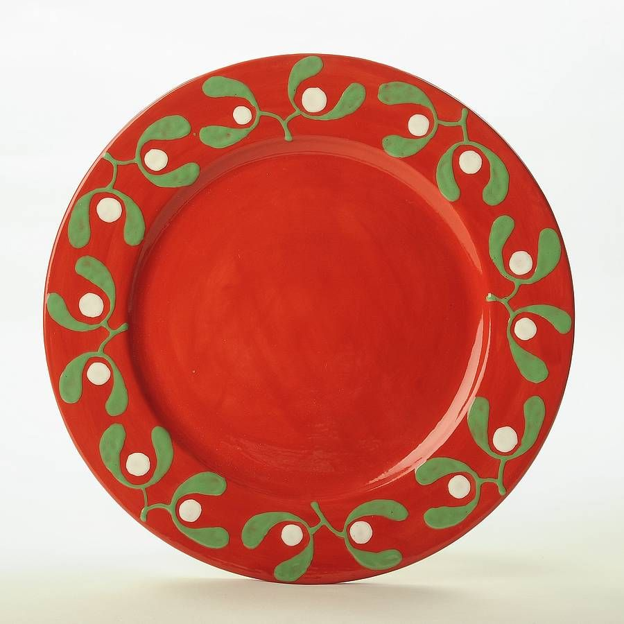 Red Mistletoe Cake Plate | Happy Holidays | Pinterest ...