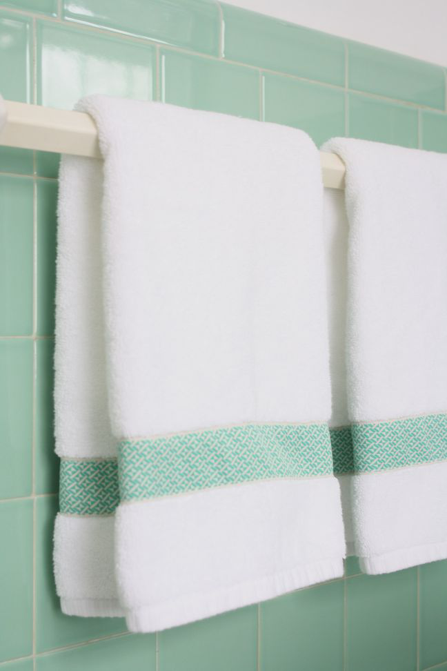 customized hand towels with vintage ribbon via Meet Me in ...