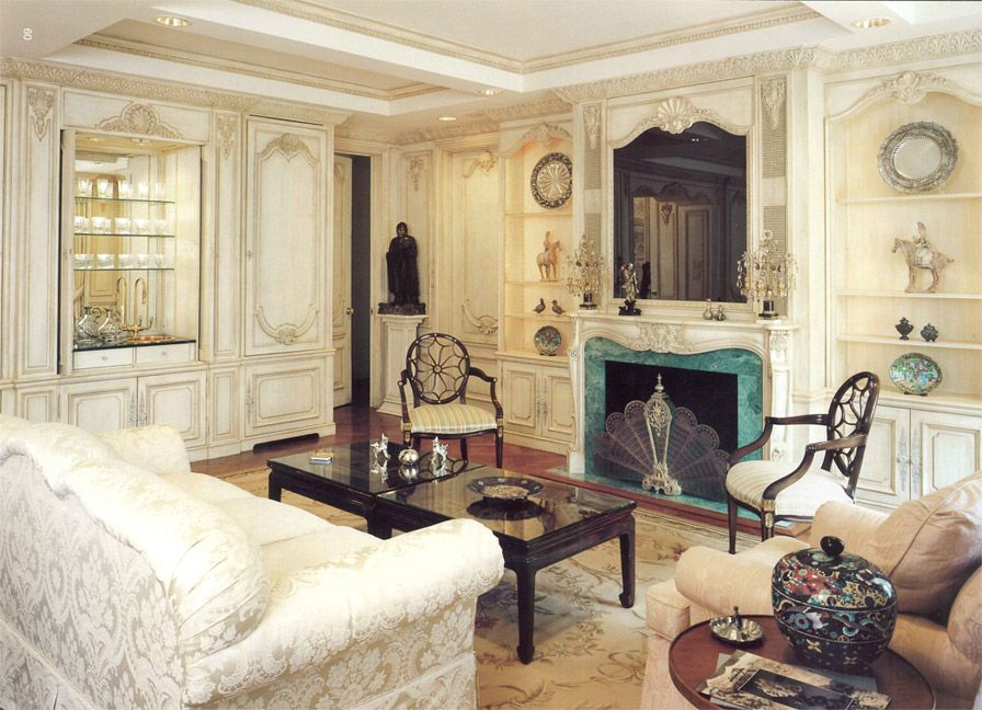 Beautiful Louis Xv Living Room Boiserie Panels By Auffrance