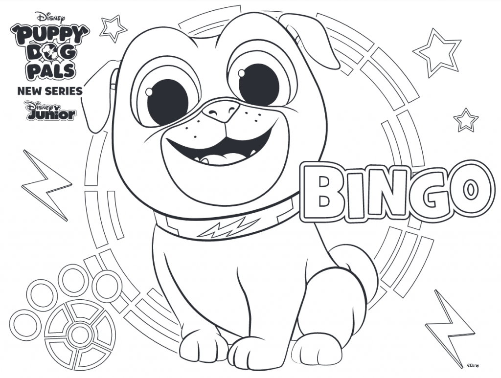 Puppy Dog Pals Coloring Pages Bingo Disney Coloring Pages Paw Patrol Coloring Pages Preschool Coloring Pages
