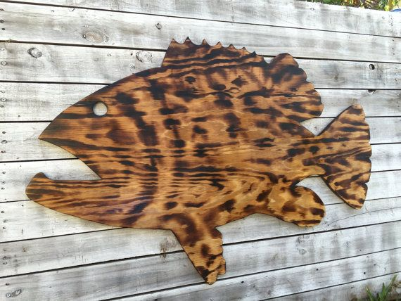 Gift For Parents Large Outdoor Wall Art Fish Decor Coastal Fish