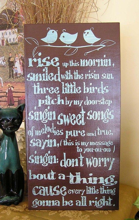 Three Little Birds nursery wall decor nursery shower gift   Etsy