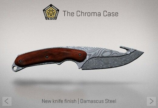 Counter Strike Global Offensive The Chroma Case Gut Knife Damascus Steel Armas Armas Brancas Cutelaria