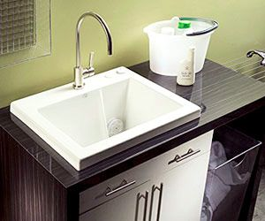 Gentle Massage For Your Hand Washables The Jentle Jet Mtls 120j Laundry Sink Incorporates Three Microjets In Its 12 1 2 In Laundry Sink Laundry Room Sink Sink