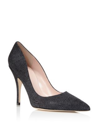 free shipping outlet store Kate Spade New York Pointed-Toe Embossed Leather Pumps outlet new arrival discount latest collections classic for sale cW5qVul