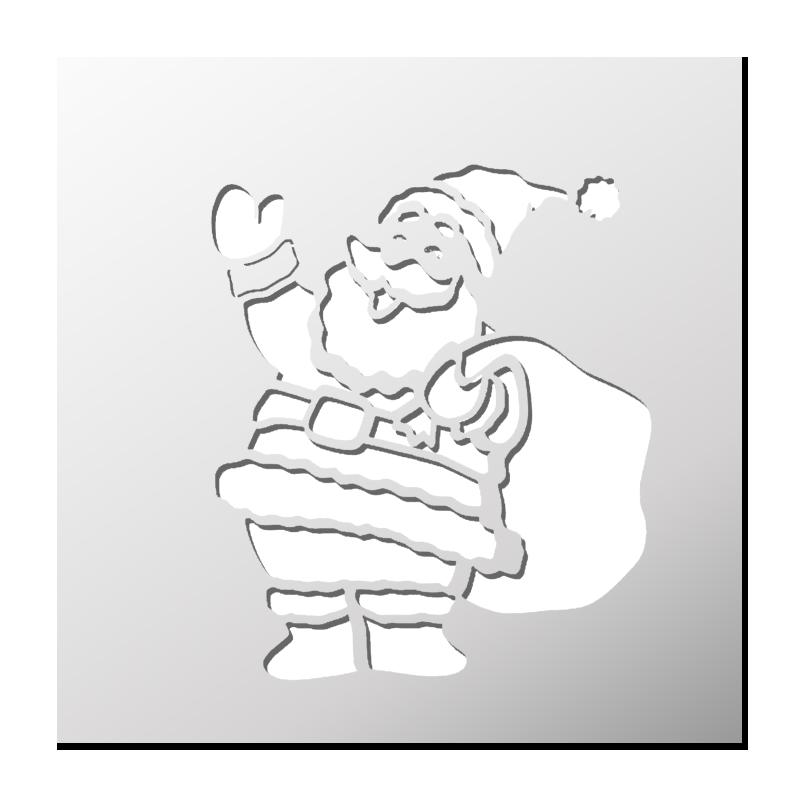 Pochoir Père Noël | Pochoir noel, Pochoir et Noel