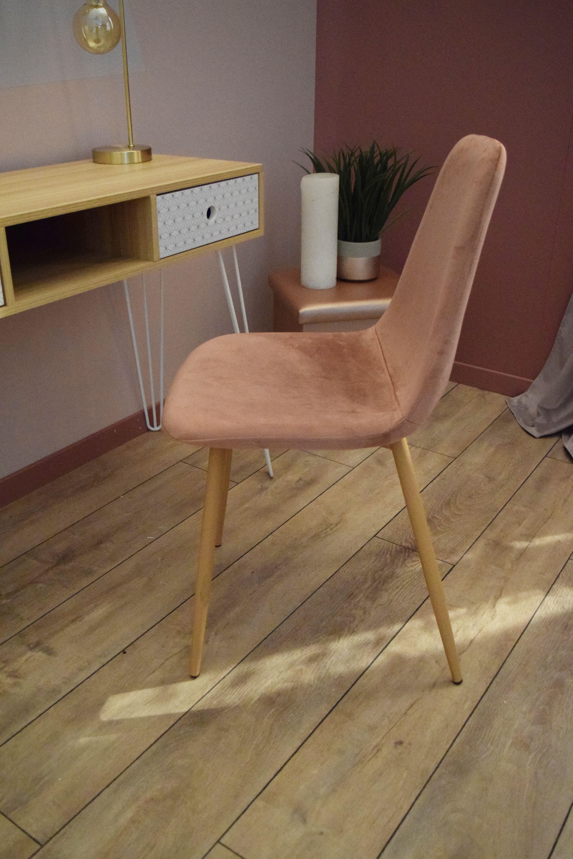Chaise Bureau Rose Poudre