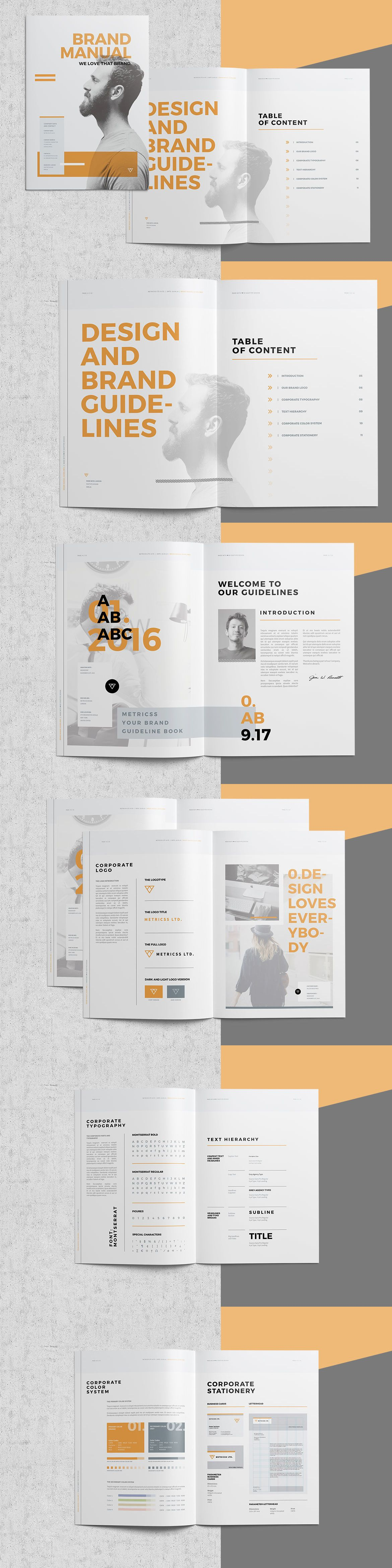 Brand Manual Brochure Template InDesign INDD | Templates | Pinterest ...