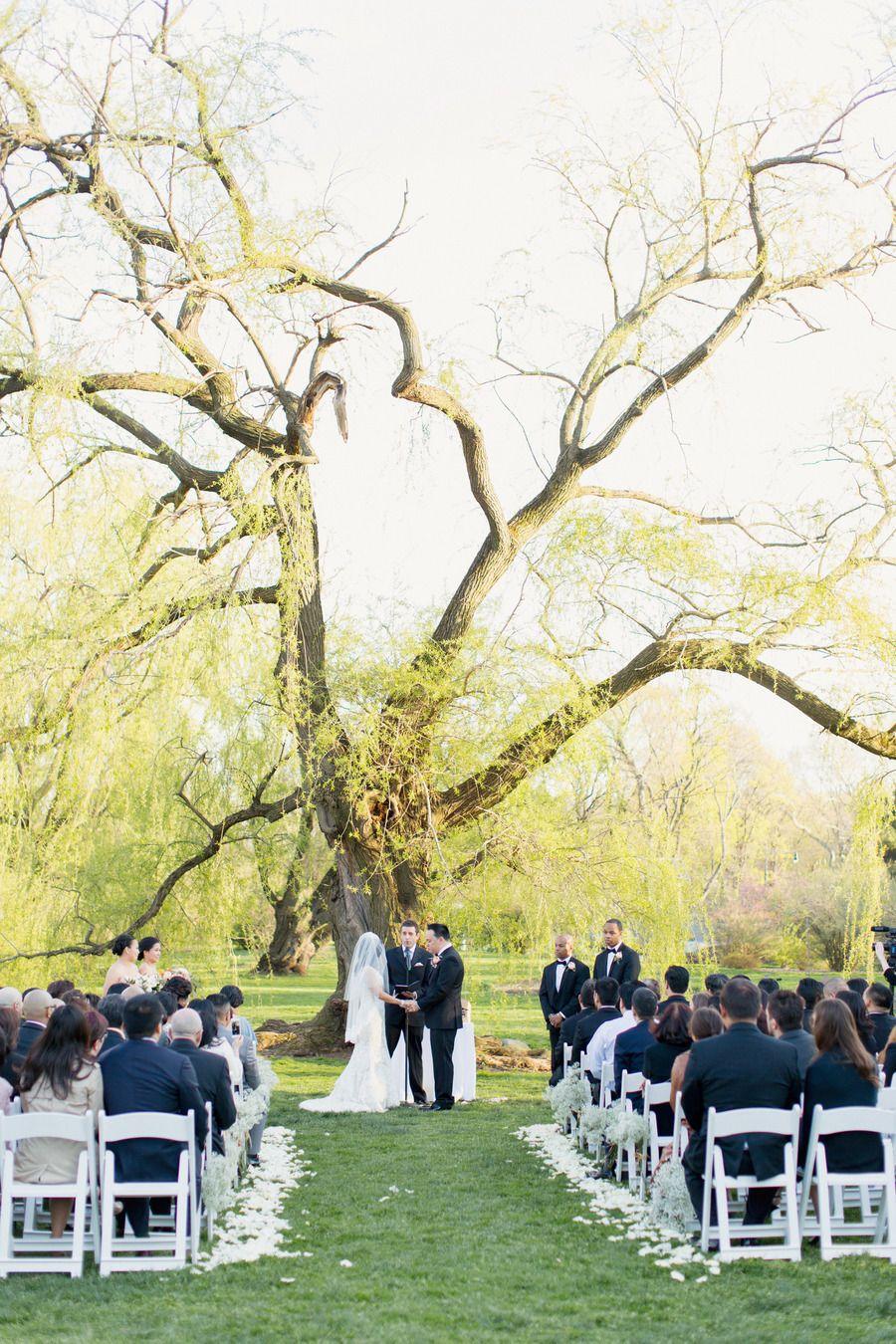 lovely setting Garden chic wedding, Botanical gardens