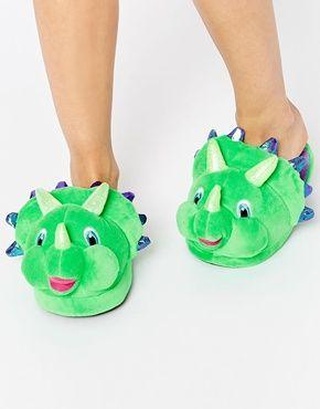Voqeen Zapatillas de Felpa Dinosaurio de Dibujos Zapatillas de Estar por Casa para Ni/ños Ni/ñas Pantuflas Invierno Casa Caliente Peluche de Zapatilla Slipper