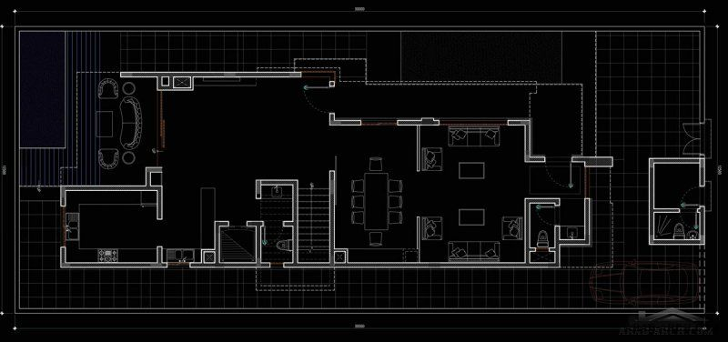 مخطط فيلا رفا مساحة الارض 375 House Plans Architect Design