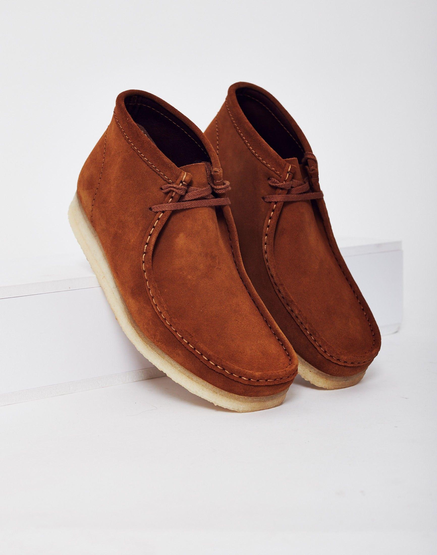 Clarks Originals Suede Wallabee Boot Brown