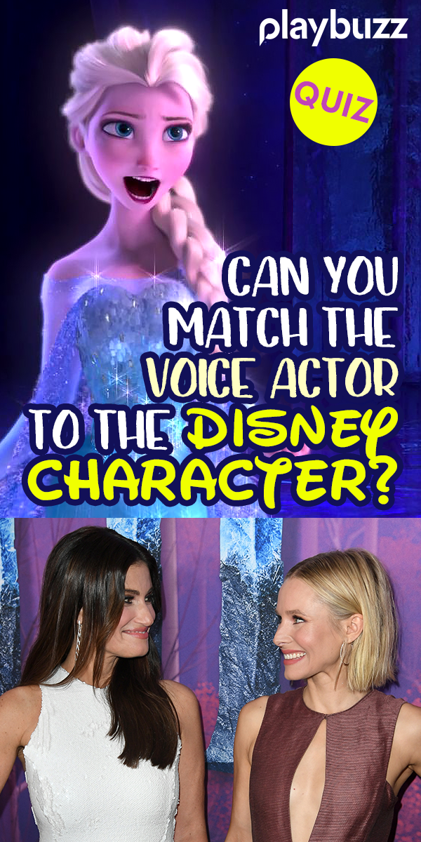 Can You Match The Voice Actor To The Disney Character ...
