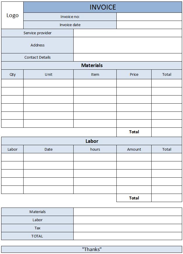 carpenter-invoice-template-25   carpenter invoice templates, Invoice examples