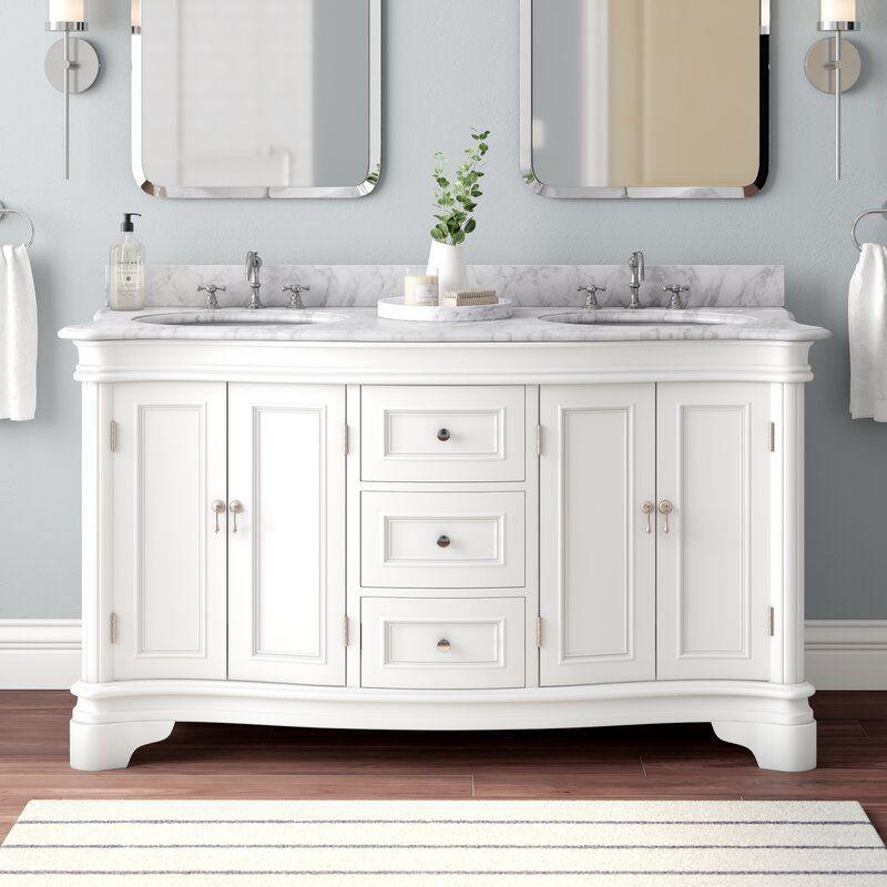 Sarenac 60 Double Bathroom Vanity Set In 2020 Double Vanity