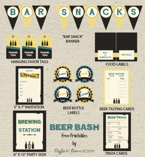 Free Beer Tasting Party Printables From Giggles Grace Designs Beer Tasting Party Printables Beer Tasting Parties Beer Party